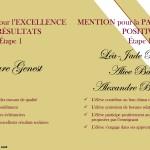 Mention d'excellence Institut Saint Joseph